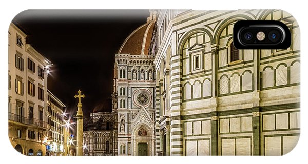 Florence Saint Mary Of The Flowers And Baptistery In The Evening IPhone Case