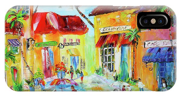 IPhone Case featuring the painting Florida Cafe by Kevin Brown