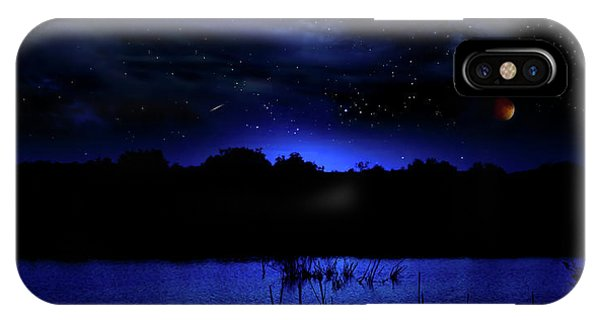 Florida Everglades Lunar Eclipse IPhone Case