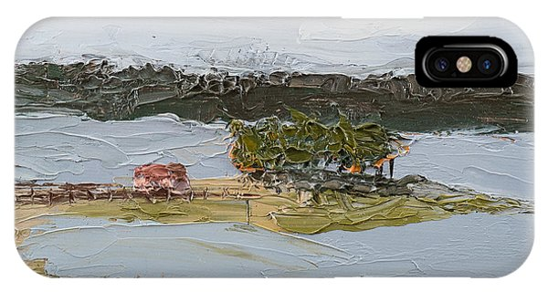 IPhone Case featuring the painting Florida Lake II by Break The Silhouette