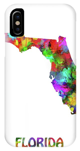 Map Of Watercolor Florida.Florida Map Iphone Cases Fine Art America
