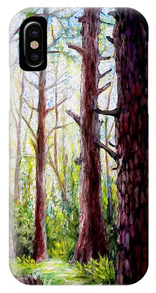Florida Pine Forest Phone Case by Sebastian Pierre