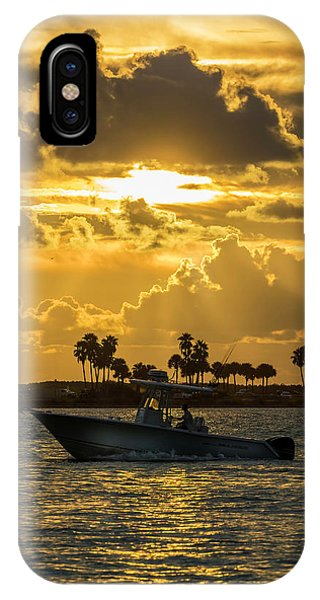 Powerboat iPhone Case - Florida Sunset-2 by Marvin Spates