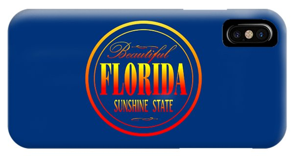 Sports Clothing iPhone Case - Florida Sunshine State Design by Peter Potter
