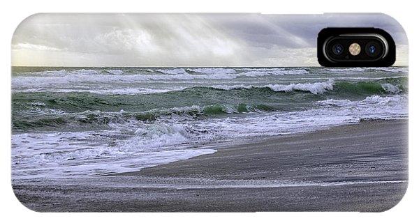 Florida Treasure Coast Beach Storm Waves IPhone Case