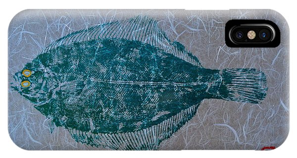 Flounder - Winter Flounder - Black Back IPhone Case