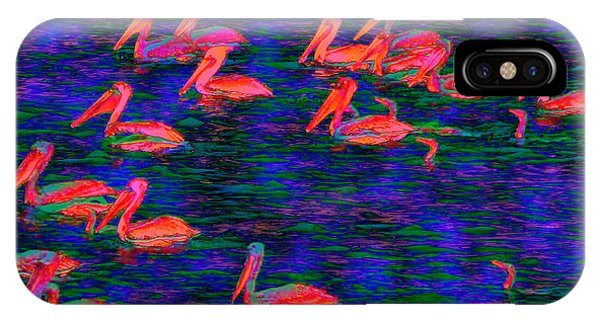 Flourescent Pelicans IPhone Case