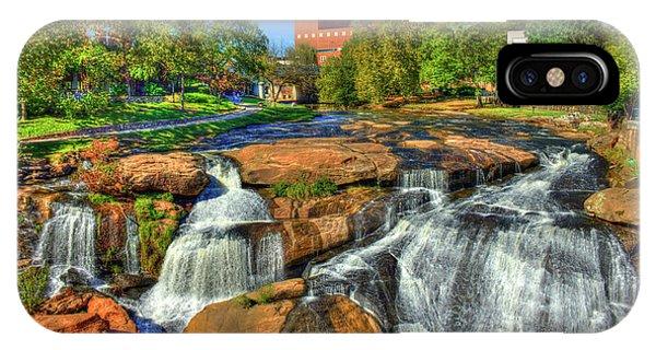 Flow On Reedy River Falls Park Art Greenville South Carolina Art IPhone Case