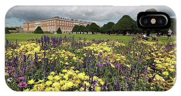 Flower Bed Hampton Court Palace IPhone Case