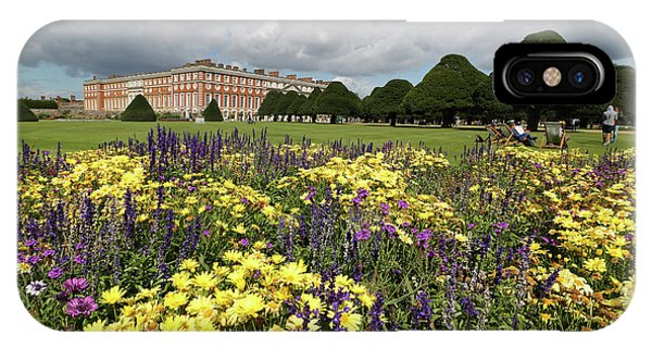 Flower Bed Hampton Court Palace IPhone Case