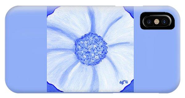 Flower Blue Power IPhone Case