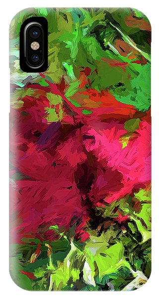 Flower Christmas Red Green Pink IPhone Case