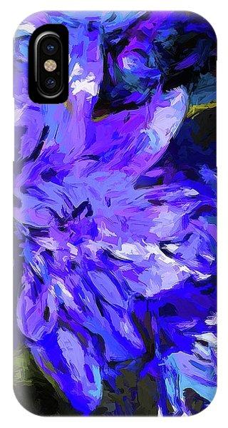 Flower Lavender Lilac Cobalt Blue IPhone Case