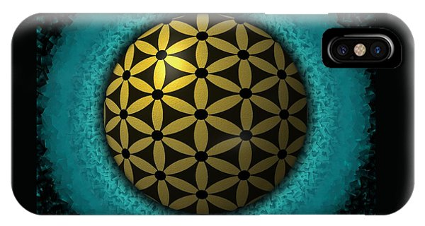 IPhone Case featuring the digital art Flower Of Life by Vincent Autenrieb
