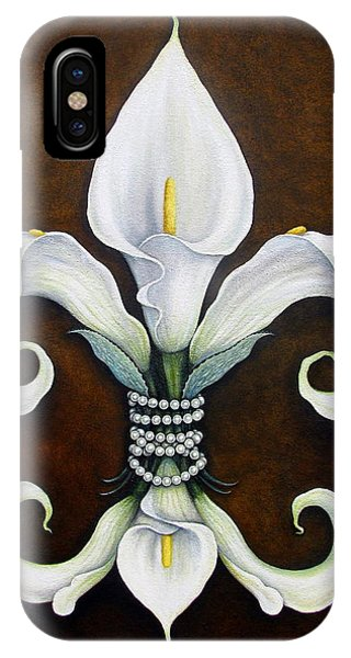 Lilly iPhone Case - Flower Of New Orleans White Calla Lilly by Judy Merrell