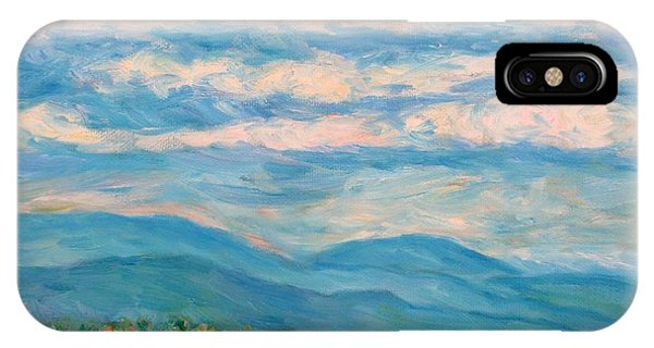 IPhone Case featuring the painting Flower Path To The Blue Ridge by Kendall Kessler