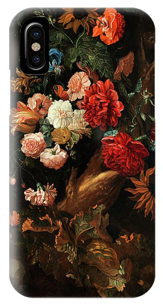 Flower Plot With Gelbbauchunke And Snake IPhone Case