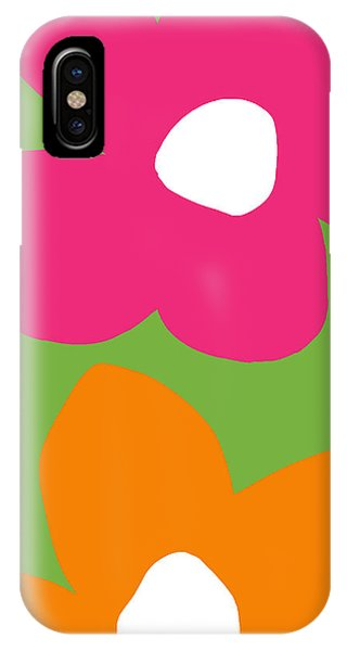 Contemporary Floral iPhone Case - Flower Power 1- Art By Linda Woods by Linda Woods