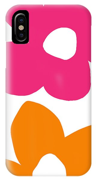 Contemporary Floral iPhone Case - Flower Power 4- Art By Linda Woods by Linda Woods