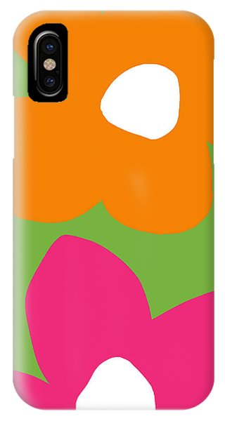 Contemporary Floral iPhone Case - Flower Power 5- Art By Linda Woods by Linda Woods