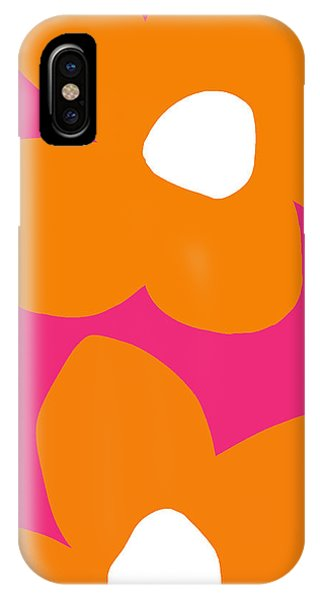 Contemporary Floral iPhone Case - Flower Power 6- Art By Linda Woods by Linda Woods