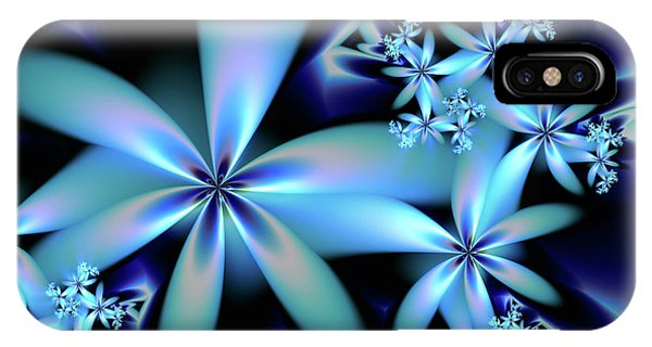 Flower Power Blue IPhone Case