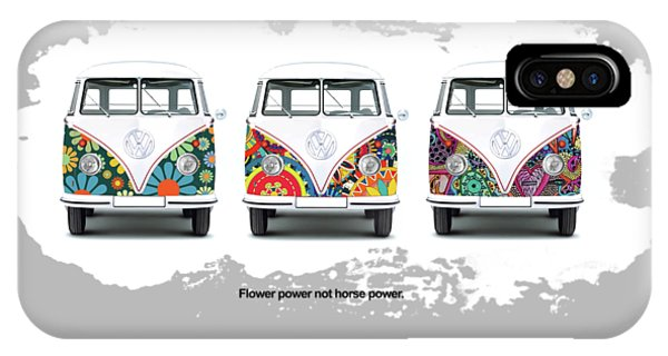 Volkswagen iPhone Case - Flower Power Vw by Mark Rogan