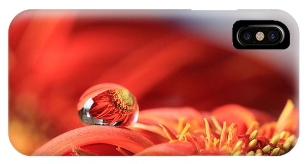 Flower Reflection In Water Drop IPhone Case