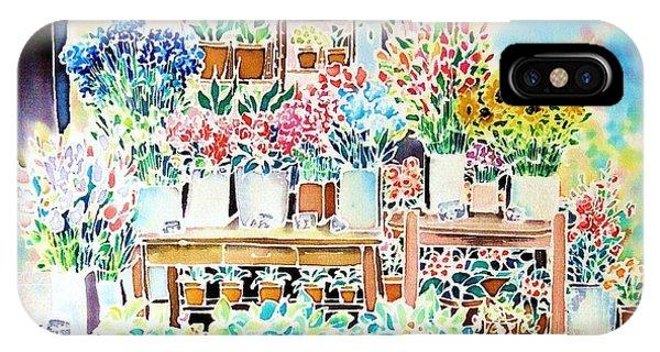 Flower Shop In Paris IPhone Case