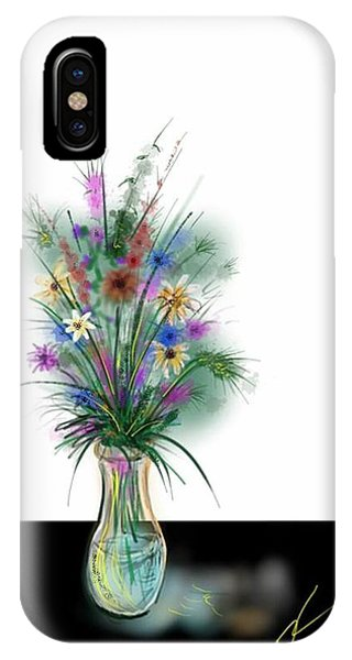 IPhone Case featuring the digital art Flower Study One by Darren Cannell