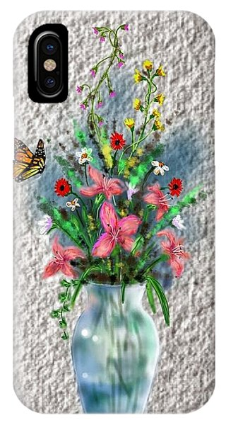 IPhone Case featuring the digital art Flower Study Three by Darren Cannell