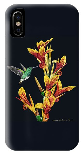 Flower With Bird IPhone Case