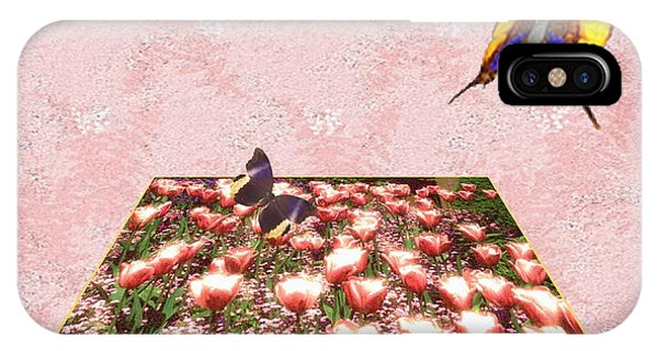 Flowerbed Of Tulips IPhone Case