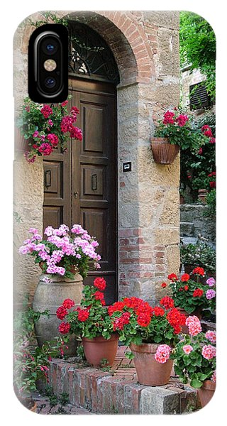 Flowered Montechiello Door IPhone Case