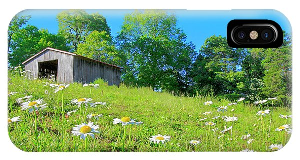 Flowering Hillside Meadow - View 2 IPhone Case
