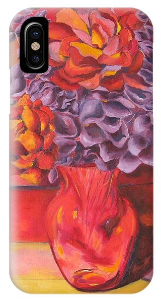 Flowering Orange IPhone Case