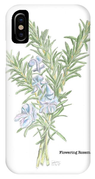 Flowering Rosemary IPhone Case