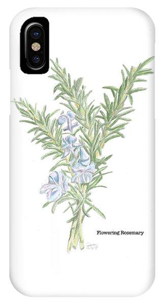 Flowering Rosemary IPhone Case