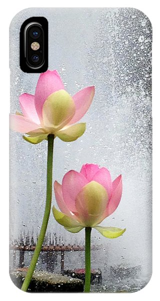 Flowers And Fountains IPhone Case
