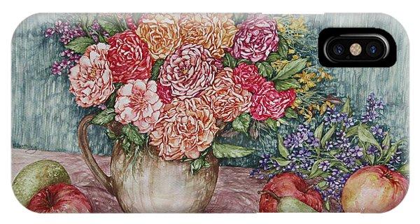 Flowers And Fruit Arrangement IPhone Case