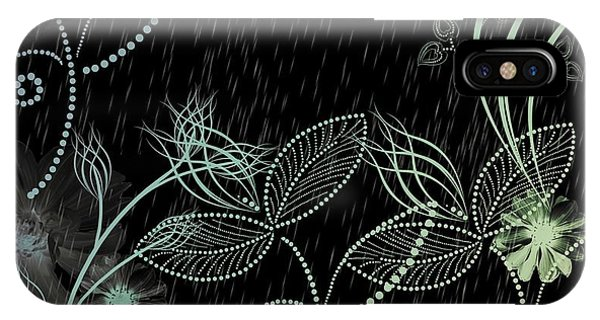 Flowers And Rain IPhone Case