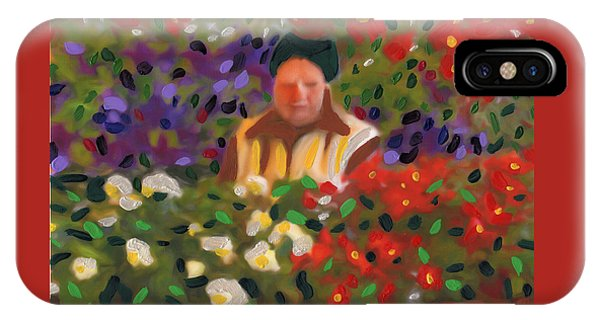 IPhone Case featuring the painting Flowers For Sale by Deborah Boyd