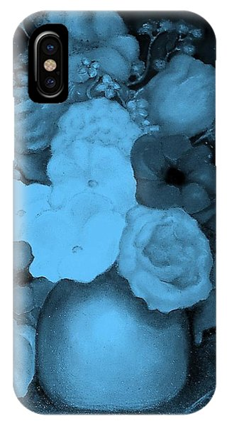 Flowers In Blue IPhone Case