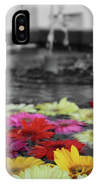 Flowers In Fountain IPhone Case