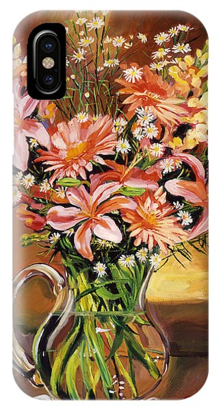 Flowers In Glass IPhone Case