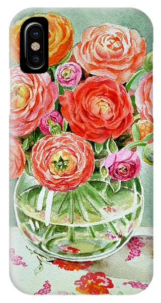 Hyper Realism iPhone Case - Flowers In The Glass Vase by Irina Sztukowski