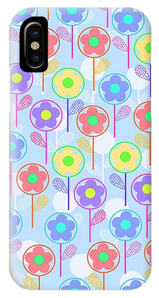 Repeat iPhone Case - Flowers by Louisa Knight