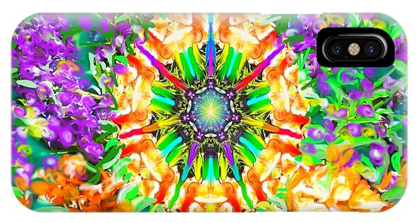Flowers Mandala IPhone Case