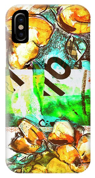 IPhone Case featuring the mixed media Flowers On Paper,  Collage And Acrylic by Ariadna De Raadt