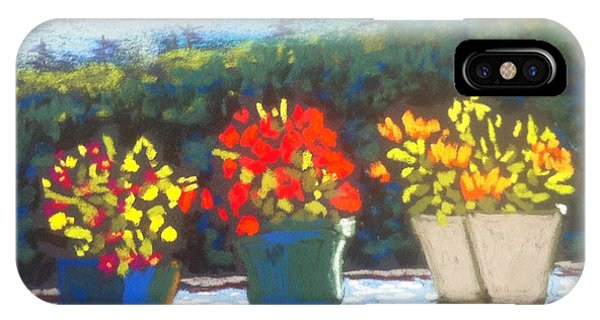 Flowers On The Railing IPhone Case